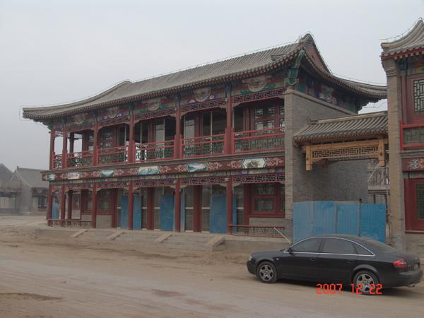 二层门店式复古建筑组